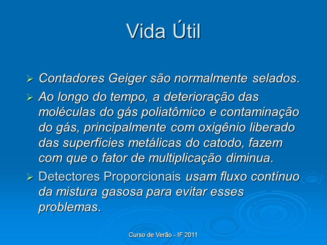 Vida Útil Contadores Geiger são normalmente selados.