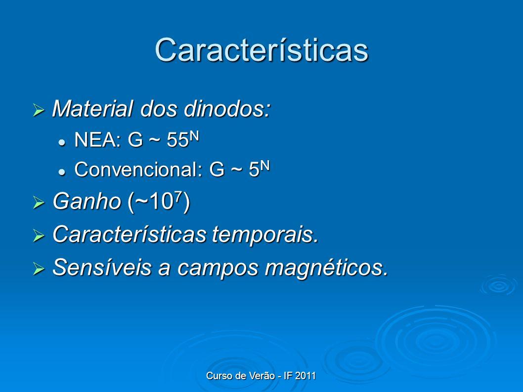 Características Material dos dinodos: Ganho (~107)