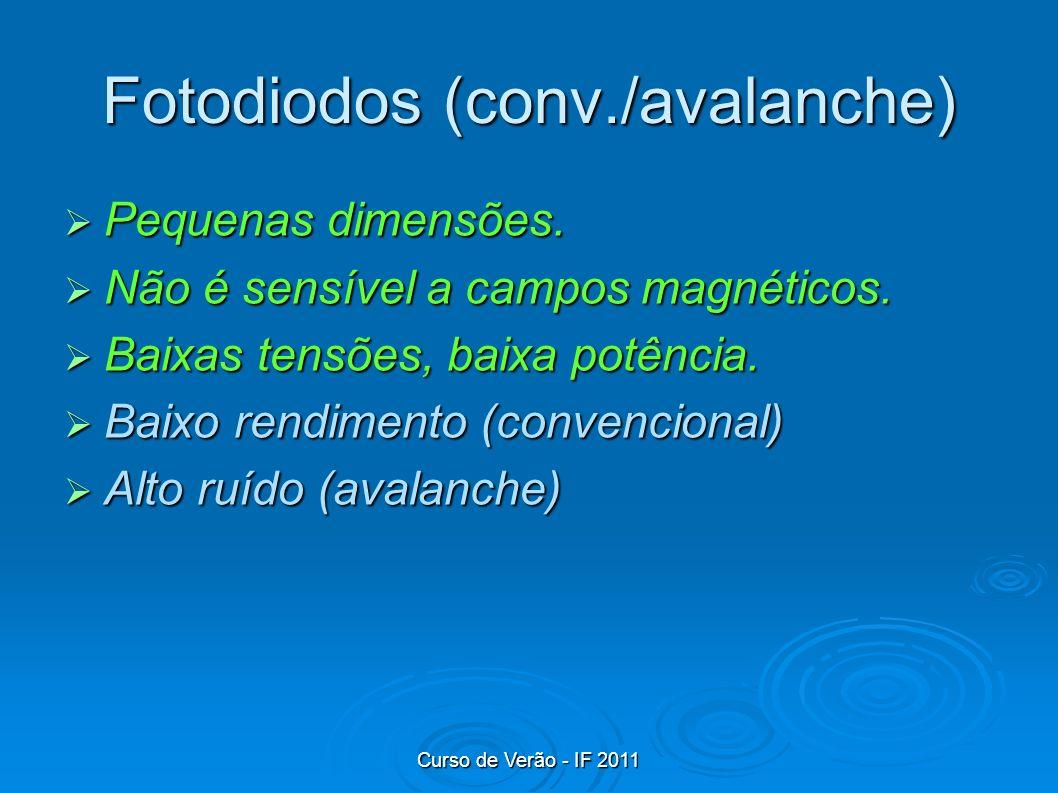 Fotodiodos (conv./avalanche)