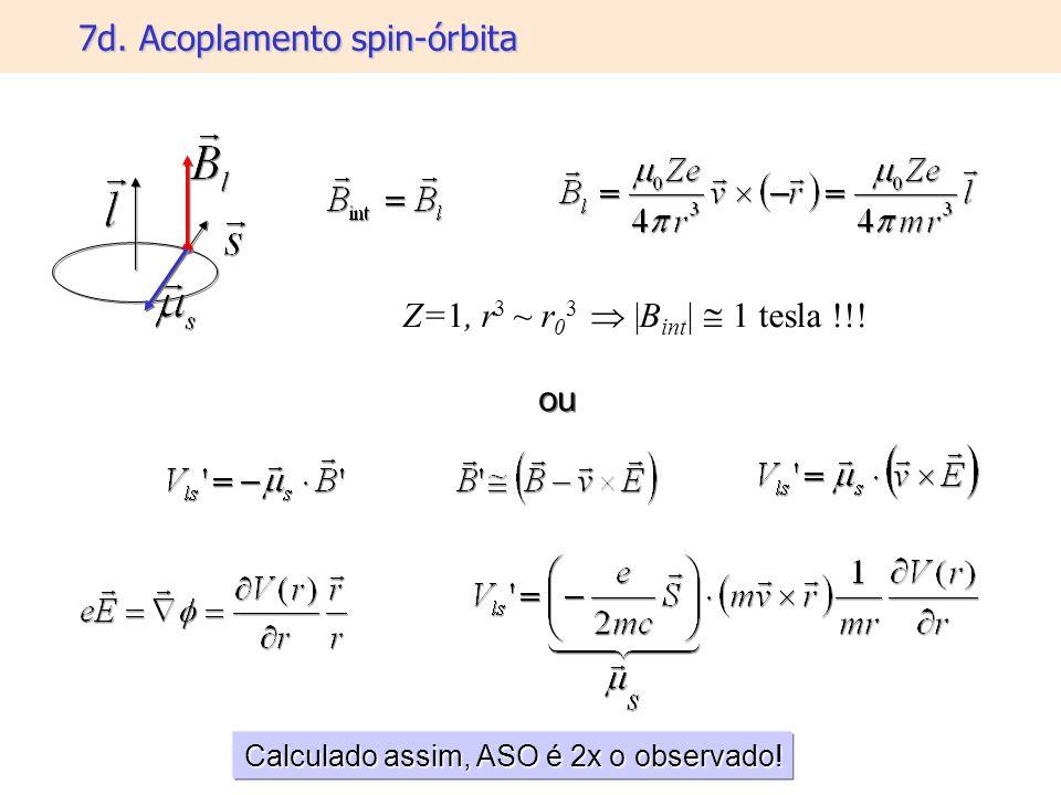 7d. Acoplamento spin-órbita