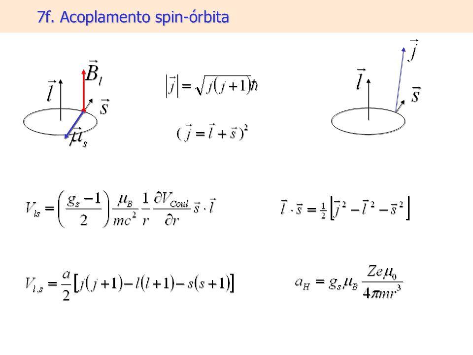 7f. Acoplamento spin-órbita