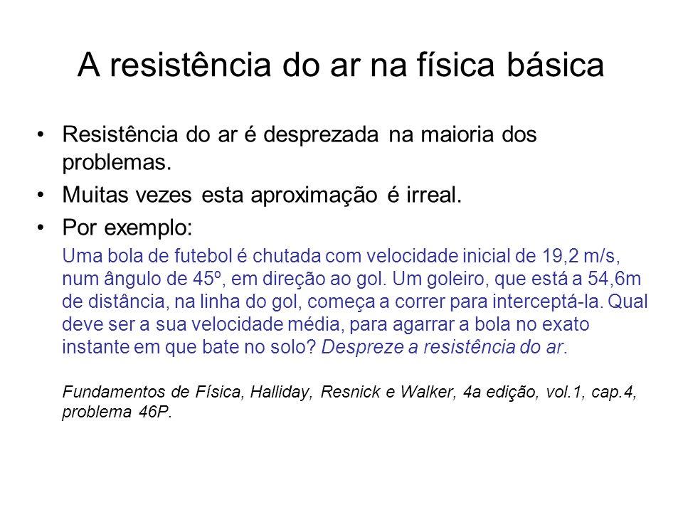 A resistência do ar na física básica