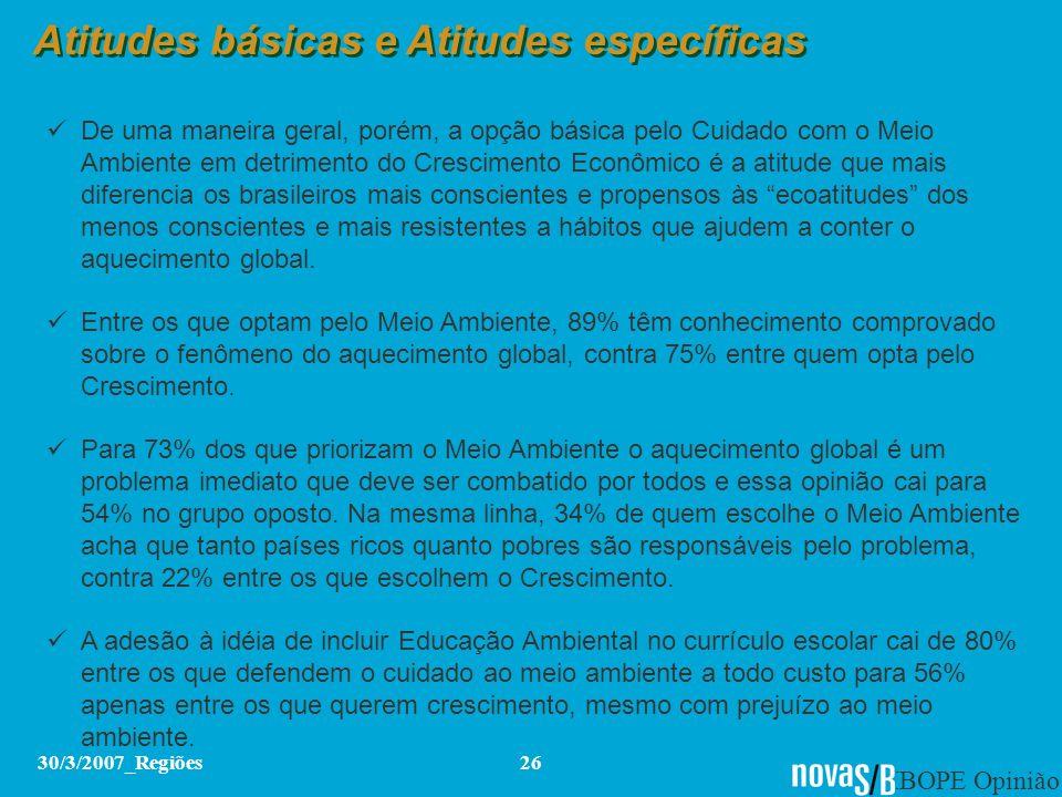 Atitudes básicas e Atitudes específicas