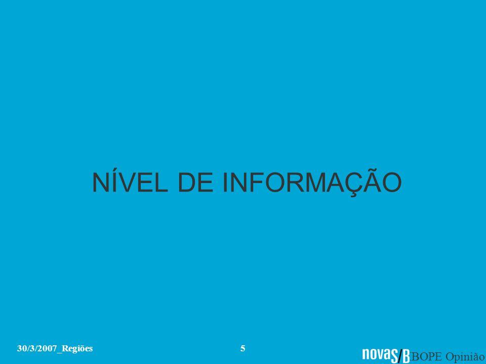 NÍVEL DE INFORMAÇÃO 30/3/2007_Regiões