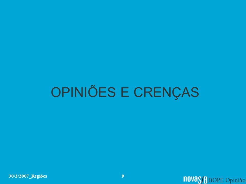 OPINIÕES E CRENÇAS 30/3/2007_Regiões