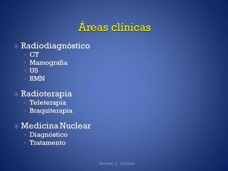 Radiodiagnóstico Radioterapia Medicina Nuclear CT Mamografia US RMN