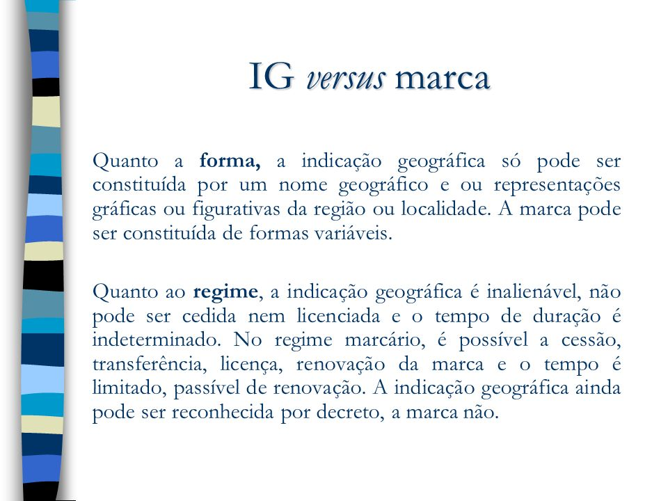 IG versus marca