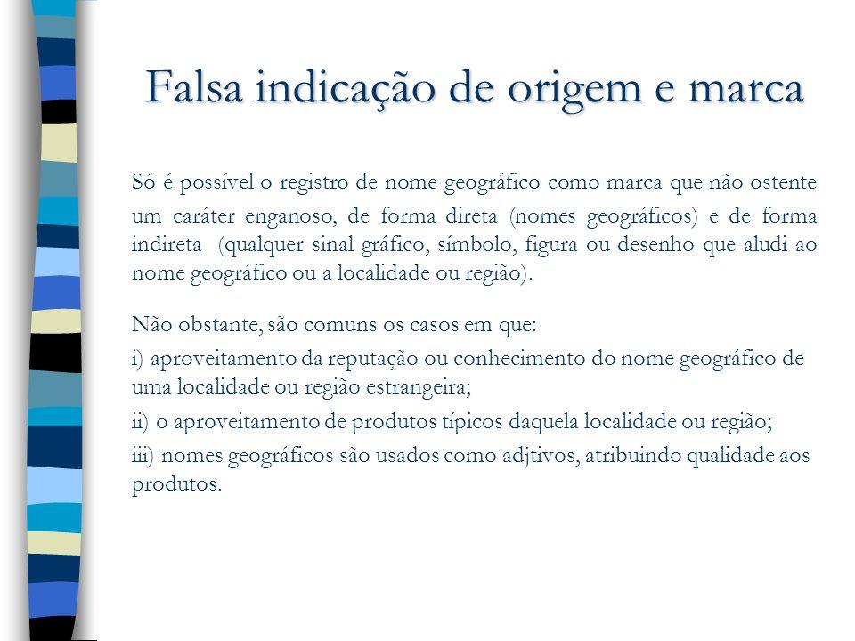 Falsa indicação de origem e marca