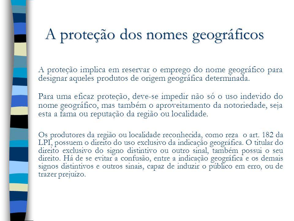 A proteção dos nomes geográficos