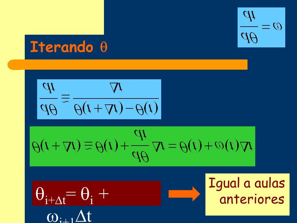 Iterando  Igual a aulas anteriores i+t= i + i+1t