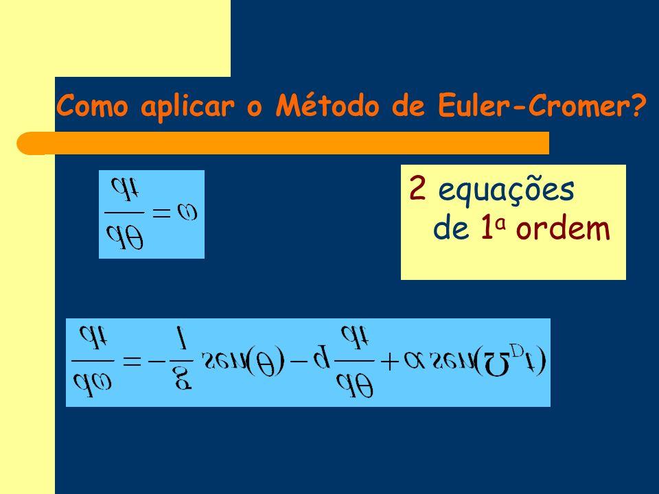 Como aplicar o Método de Euler-Cromer