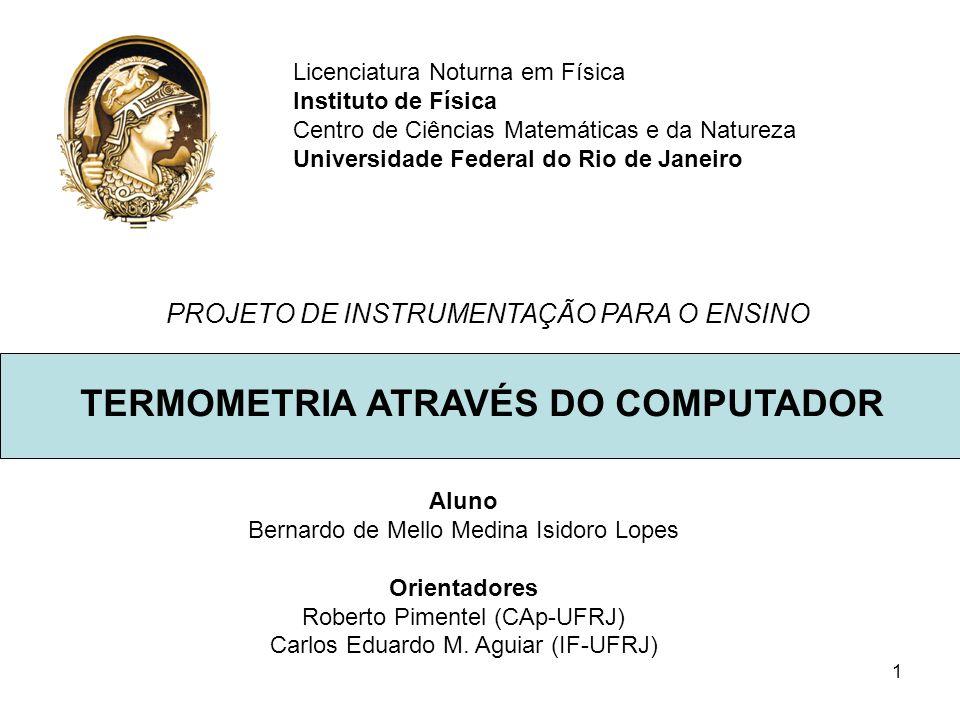 TERMOMETRIA ATRAVÉS DO COMPUTADOR