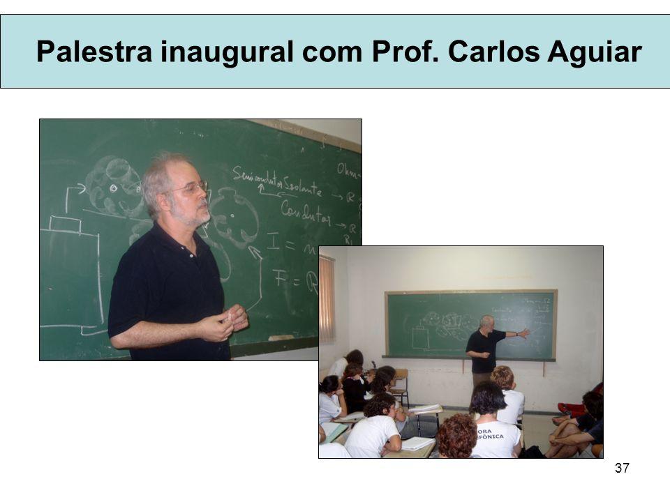 Palestra inaugural com Prof. Carlos Aguiar