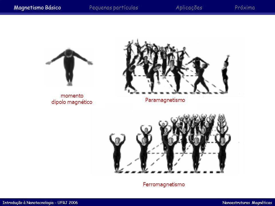 Magnetismo Básico Pequenas partículas Aplicações Próxima