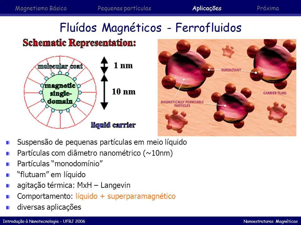 Fluídos Magnéticos - Ferrofluidos