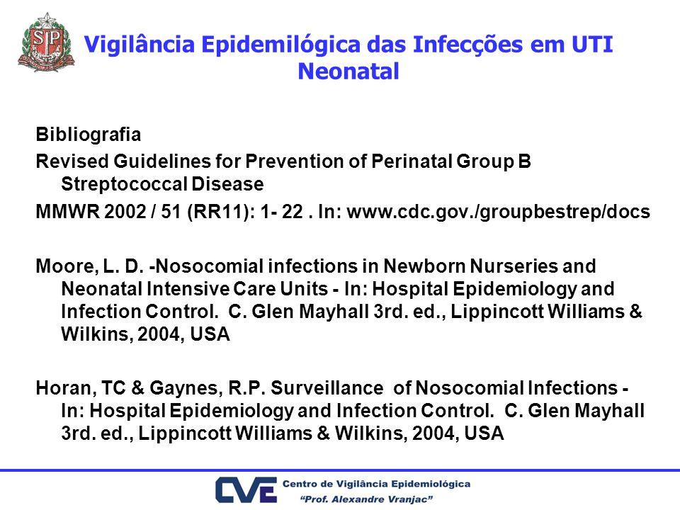 Vigilância Epidemilógica das Infecções em UTI Neonatal