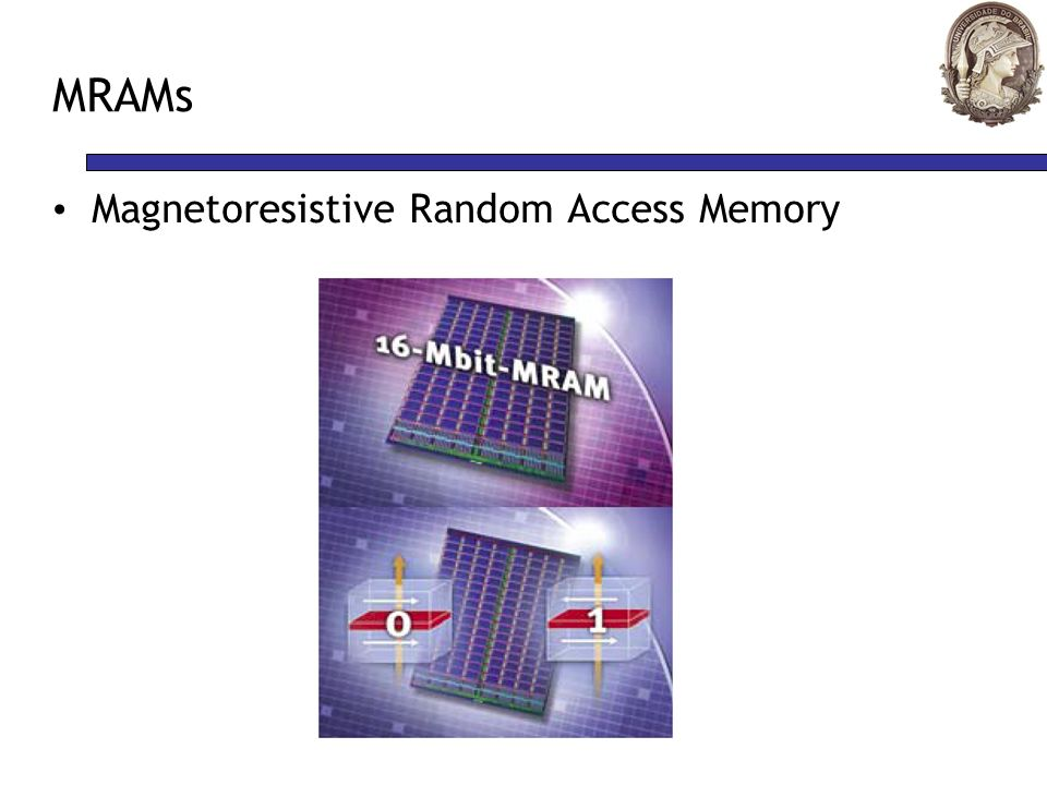 MRAMs Magnetoresistive Random Access Memory