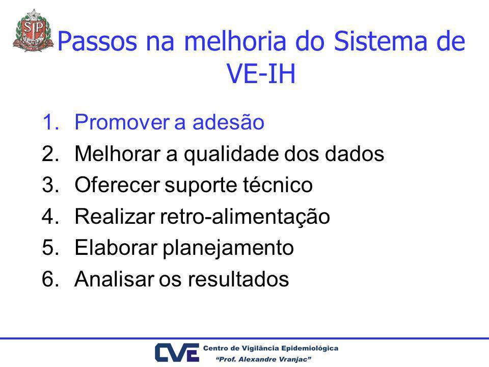 Passos na melhoria do Sistema de VE-IH