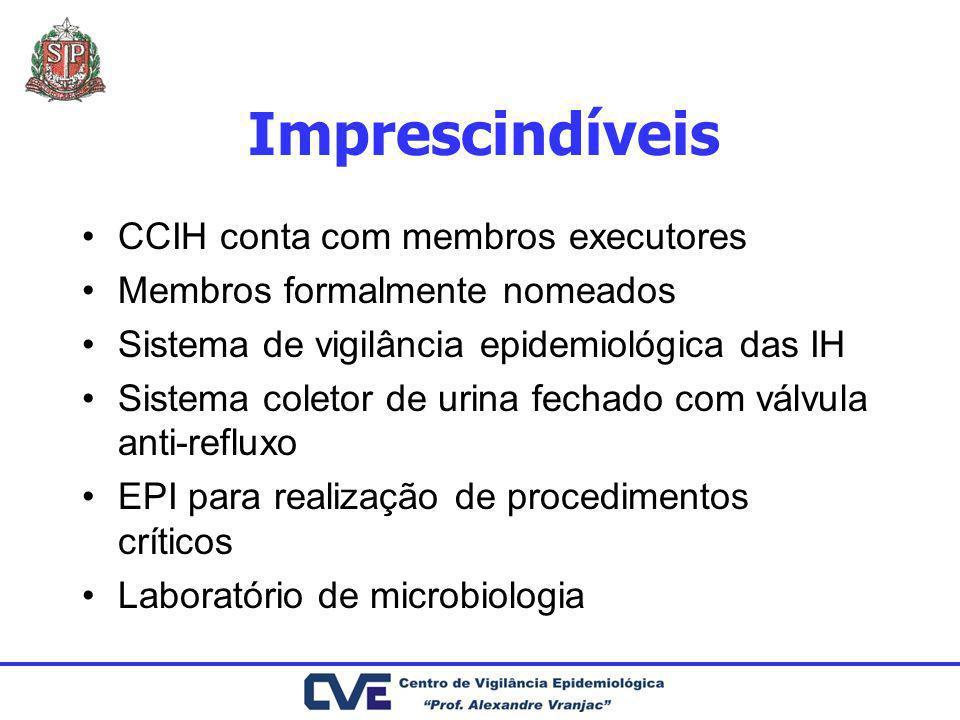 Imprescindíveis CCIH conta com membros executores