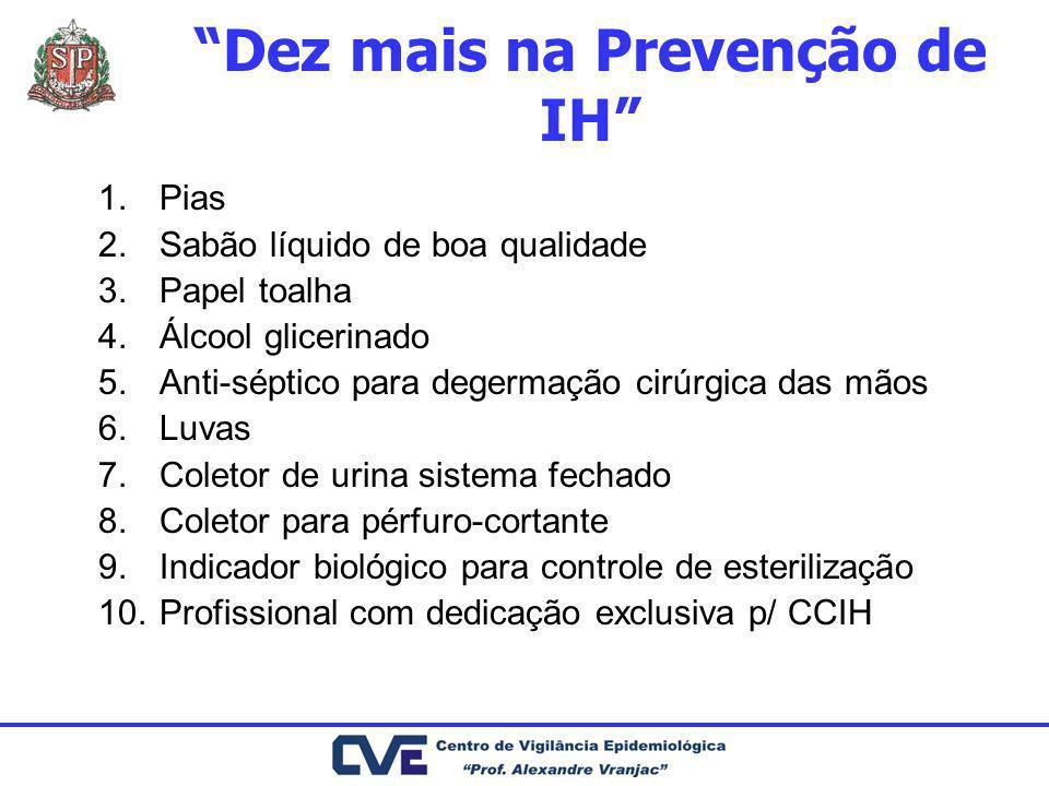 Dez mais na Prevenção de IH