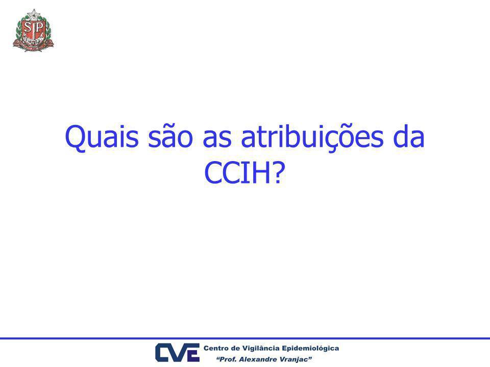 Quais são as atribuições da CCIH