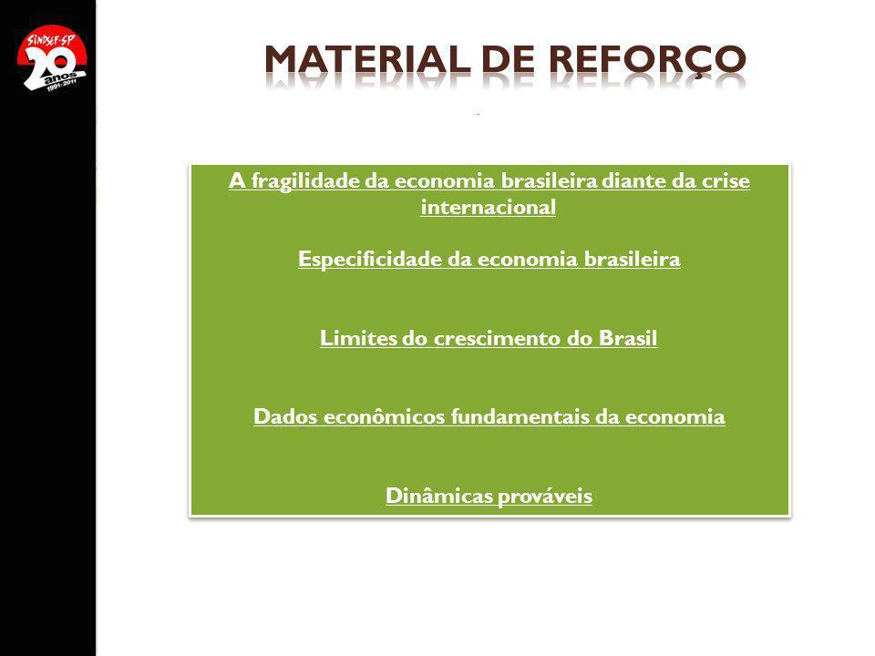 A fragilidade da economia brasileira diante da crise internacional
