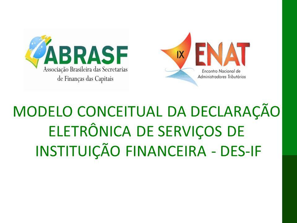 MODELO CONCEITUAL DA DECLARAÇÃO ELETRÔNICA DE SERVIÇOS DE