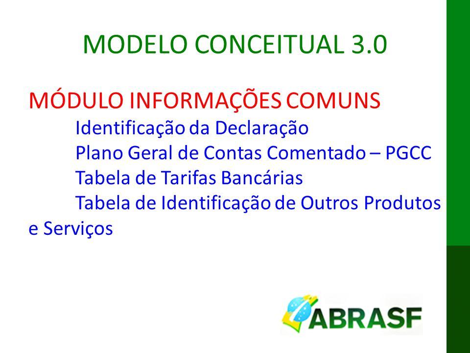MODELO CONCEITUAL 3.0 MÓDULO INFORMAÇÕES COMUNS