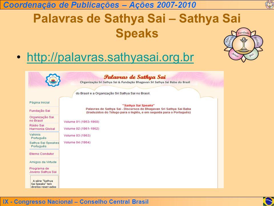 Palavras de Sathya Sai – Sathya Sai Speaks