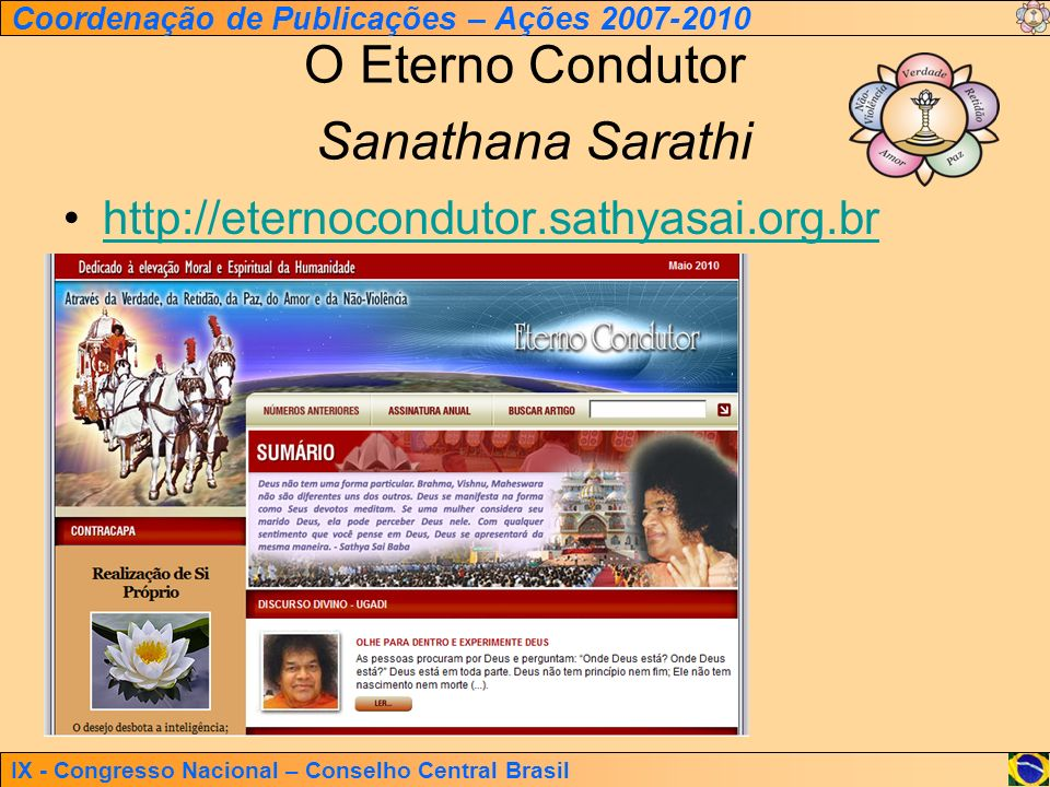 O Eterno Condutor Sanathana Sarathi