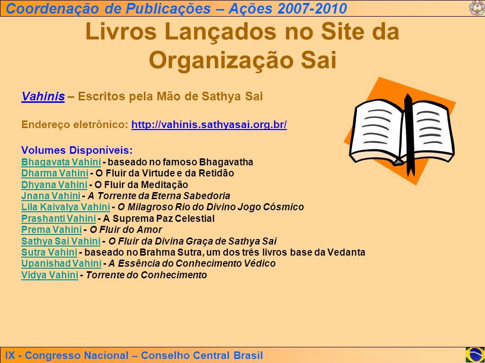 Livros Lançados no Site da Organização Sai
