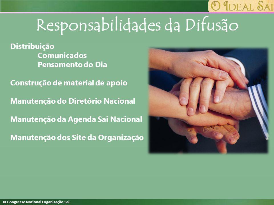 Responsabilidades da Difusão