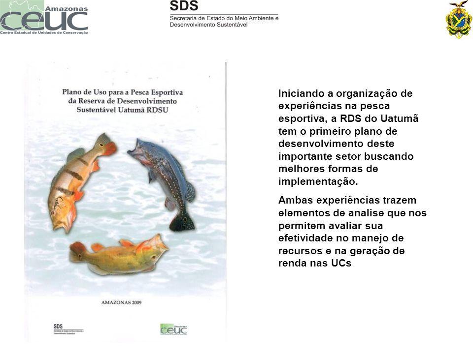 Iniciando a organização de experiências na pesca esportiva, a RDS do Uatumã tem o primeiro plano de desenvolvimento deste importante setor buscando melhores formas de implementação.