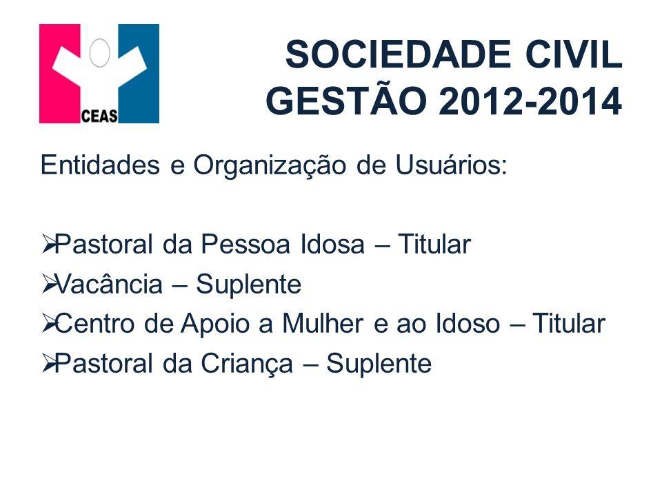 SOCIEDADE CIVIL GESTÃO 2012-2014