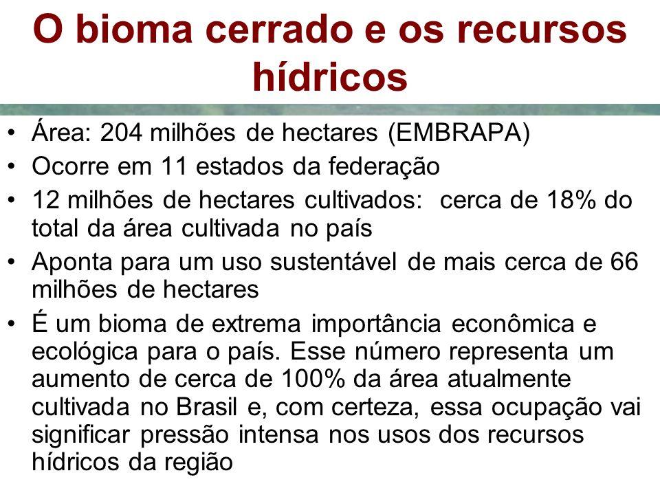 O bioma cerrado e os recursos hídricos