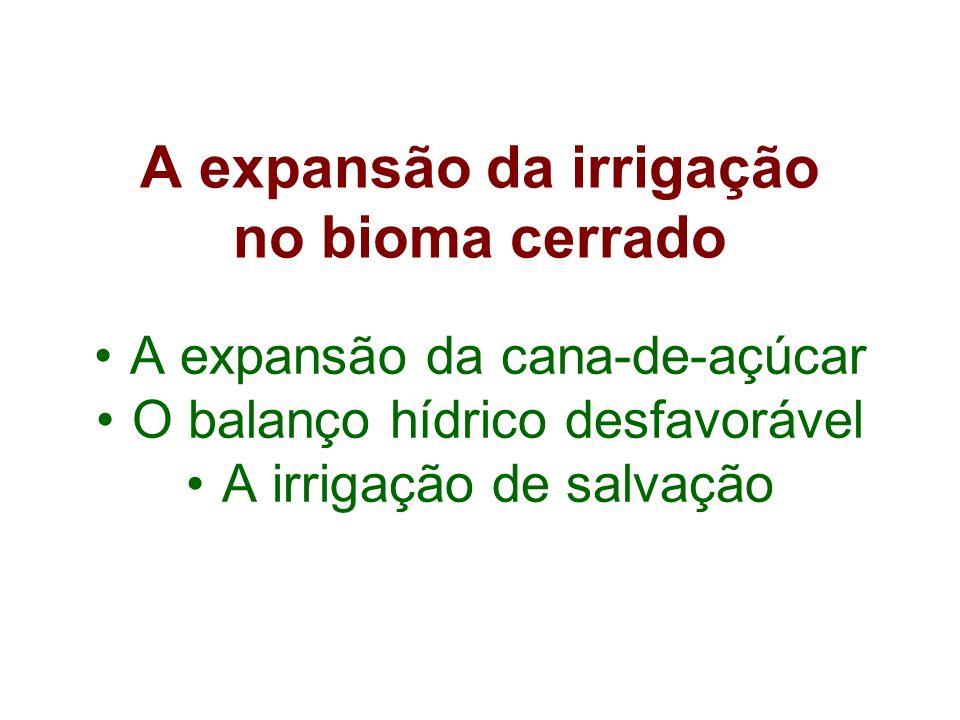 A expansão da irrigação no bioma cerrado