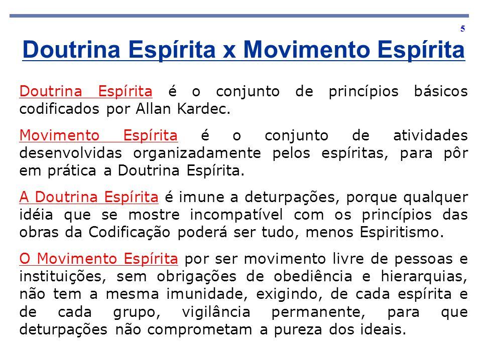 Doutrina Espírita x Movimento Espírita
