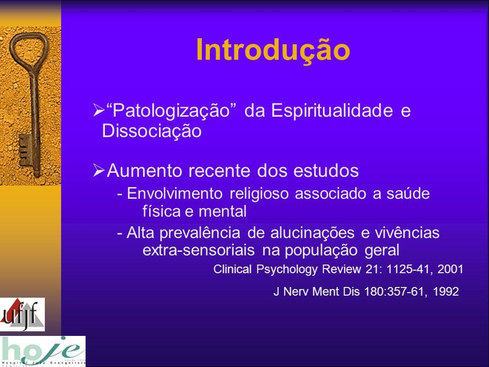 Introdução Patologização da Espiritualidade e Dissociação