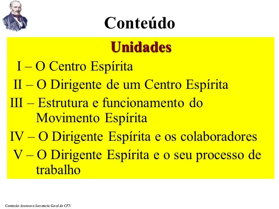Conteúdo Unidades I – O Centro Espírita