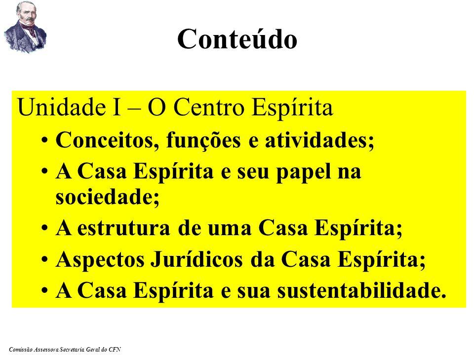 Conteúdo Unidade I – O Centro Espírita