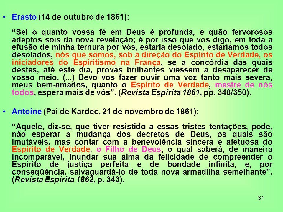 Erasto (14 de outubro de 1861):