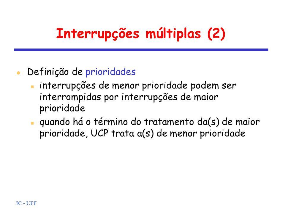 Interrupções múltiplas (2)
