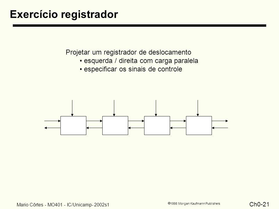 Exercício registrador