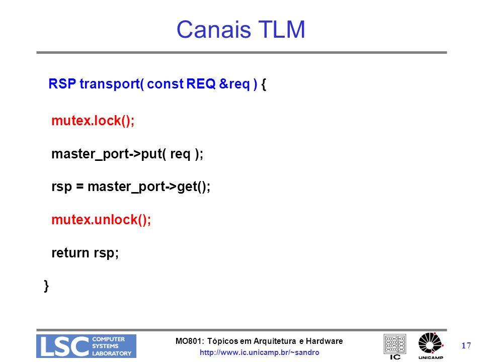 Canais TLM RSP transport( const REQ &req ) { mutex.lock();