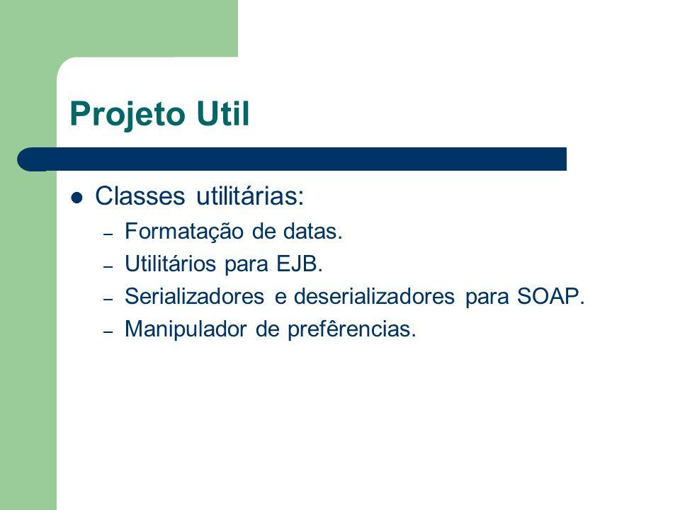 Projeto Util Classes utilitárias: Formatação de datas.