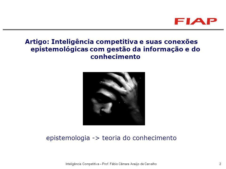 epistemologia -> teoria do conhecimento