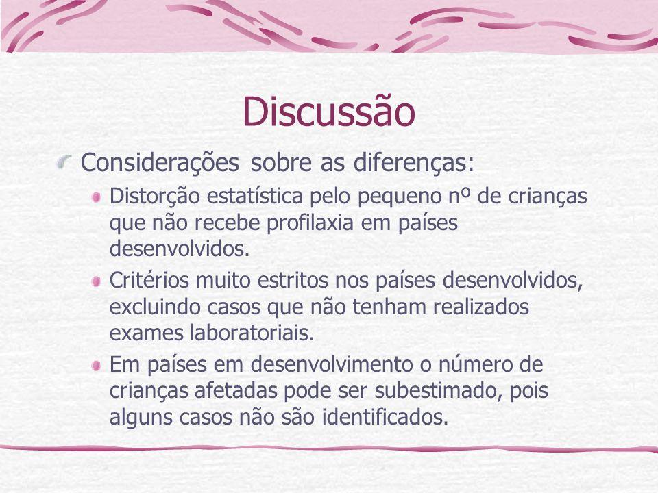 Discussão Considerações sobre as diferenças: