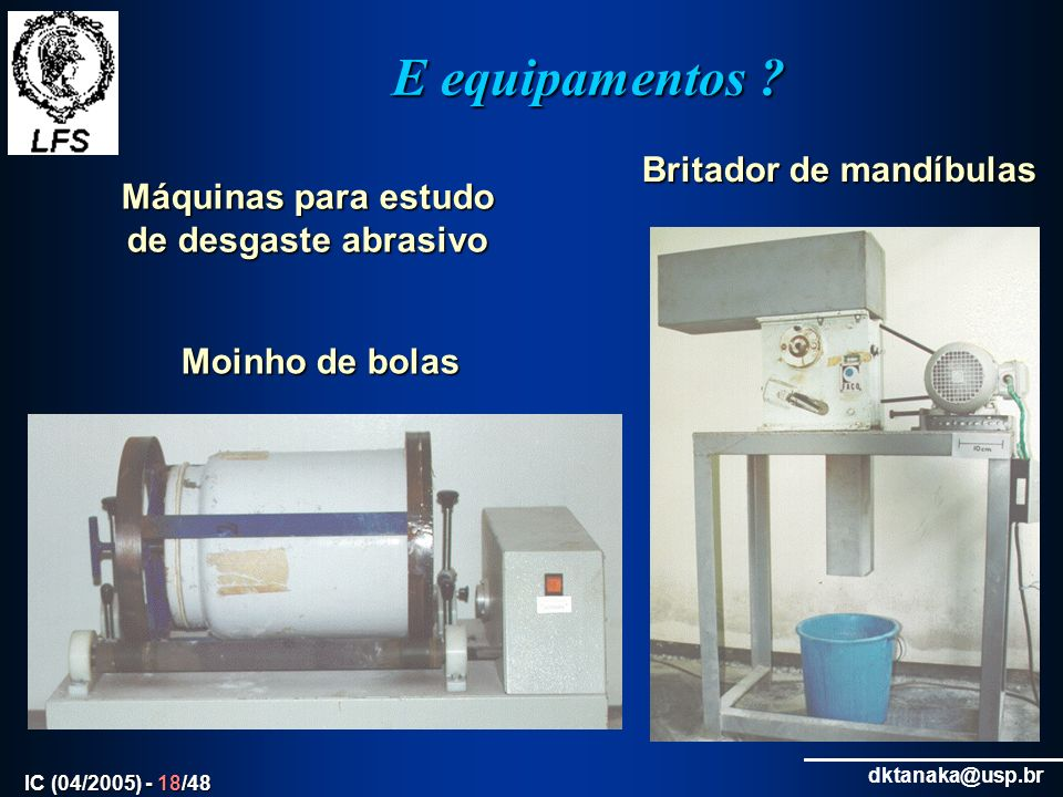 Máquinas para estudo de desgaste abrasivo