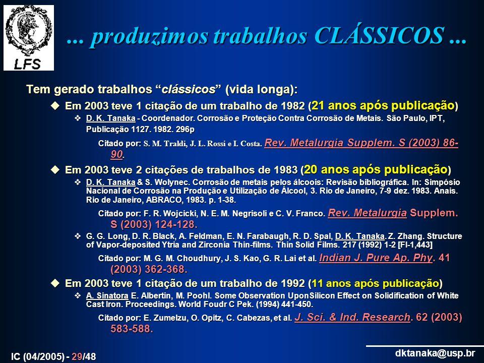 ... produzimos trabalhos CLÁSSICOS ...