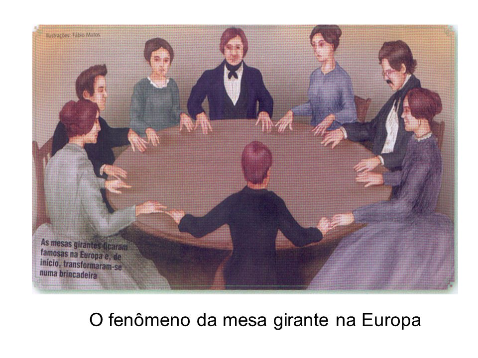 O fenômeno da mesa girante na Europa